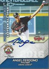 Angel Perdomo 2016 Lansing Lugnuts Midwest League All Star Game Signed Card
