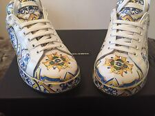 DOLCE & GABBANA NEW LADIES LILLA LEATHER SNEAKERS! Spring/Summer 16 collection