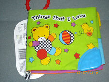"""KIDS 2 GROW BABY'S 1ST BOOK """"THINGS THAT i LOVE..."""" TEETHER ACTIVITY BOOK!"""