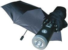 Umbrella Flashlight LED Light Automatic Rain Night Flash Black Carrying Case NEW