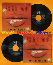 LP 45 7'' FRONT PAGE Love insurance You got my love 1979 italy DURIUM cd mc dvd