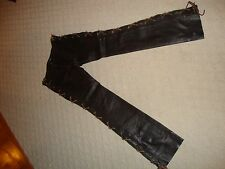 STUNNING, NEW RALPH LAUREN POLO DARK BROWN LACE UP LEATHER PANTS (NWT)