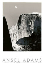 ANSEL ADAMS - Moon and Half Dome, Yosemite National Park (embossed) PHOTO PRINT