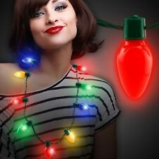 LED Light Up Christmas Bulb Necklace Party Favors for Adults Kids Holiday Shine