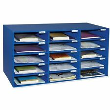 Pacon Classroom Keepers Classroom Mailbox - 15 Compartment[s] - Cardboard - Blue