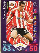 Match Attax 2016/17 Premier League - #259 Donald Love - Sunderland A.F.C.