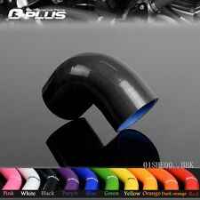 "2.5"" 63MM 2 1/2"" 90 Degree Hose Turbo Silicone Elbows Coupler Pipe Hose black"