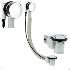 Modern Chrome Dedicated Pop Up Bath Waste With Overflow Bathroom Kit Popup Round