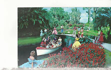 Flowers and Lovely Girls Greet You at  Cypress Gardens  FL Chrome Postcard 1237
