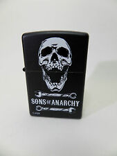 "Zippo ""SOA  SONS OF ANARCHY""  BLACK  MATT -  NEU & ovp - #1234"
