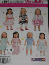 """18"""" Doll Clothes Simplicity 1484 Sewing Pattern"""