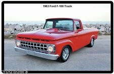 1963 Ford F-100 Truck Refrigerator / Tool Box  Magnet