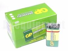 GP 9v Greencell PP3 6F22 6LR61 MN1604 9 V Block Cell Heavy Duty Battery x10