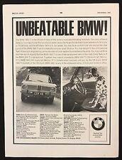 Vintage 1965 anuncio de revista deporte del motor, BMW 1800 Ti, dálmata perro en rueda