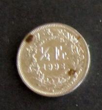 """Münze 1/2 Schweizer Franken 1992 """"B"""" aus Umlauf gültiges Zahlungsmittel Sammler"""