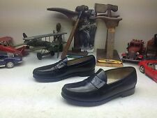 SAS MADE IN USA BLACK LEATHER SLIP ON PENNY LOAFER DRIVING SATURDAY SHOES 9 N