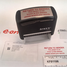 Stop Junk Mail Return To Sender Rubber Stamp Self-inking RED INK, 58 X 22mm ETC