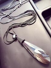 Women Chic Multi Layer Chain Transparent Big Water Drop Crystal Long Necklace