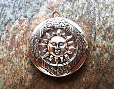 "SUN Silver Plated PHOTO Locket on sterling 925 Chain 18"" Necklace"