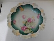 """Antique RS Prussia serving bowl roses 10 1/2 """"PRICE CUT!"""