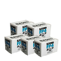 5 Rolls Ilford FP4 Plus Black and White Negative 35mm Film ISO 125 36 exp. 2018