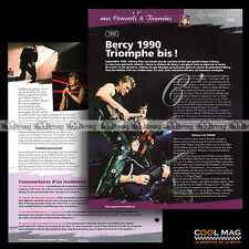 #jh011.01 ★ 1990 : LES CONCERTS A BERCY ★ Fiche JOHNNY HALLYDAY