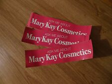 Vintage Original Ask Me About Mary Kay Cosmetics Bumper Stickers Lot of 3