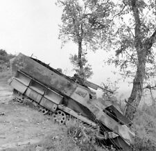 WW2 Photo WWII  Destroyed German Armor in Italy 1944 World War Two  / 4133