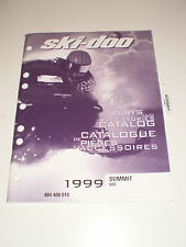SKIDOO 1999 PARTS AND ACCESSORIES CATALOG MANUAL SUMMIT 600