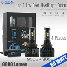 80W 8000LM CREE LED Headlight High & Low Beam Combo Light Bulbs White 9005+9006