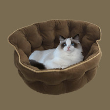 Brown Pet Lounge, Dog Basket, Cat and Dog Bed, Day Bed. Deluxe Quilted Corduroy
