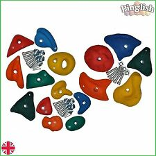 Children's Climbing Wall Starter Pack 15 Stones Holds 10 Medium, 5 Small Stones