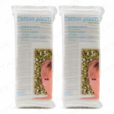 2 PACKS 100% Cotton Wool Soft Pleats Cosmetic Nail Care Cleanser Baby First Aid