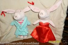 "Olivia The Pig 8"" Plush Lot of 2 Jammies Robe & Red Dress"