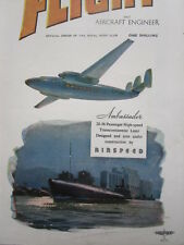 7/1946 PUB AIRSPEED AMBASSADOR TRANSCONTINENTAL LINER WOOTTON COVER AD SPERRY A3