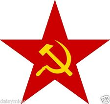 Hammer & Sickle Red Star Flag Symbol Communism Russian Soviet 5x5 inch Print
