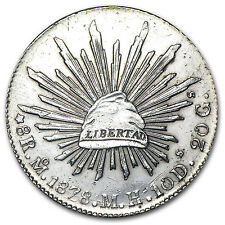 Mexico 8 Reales Silver Cap & Rays Coin - VG-VF