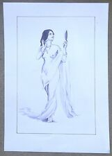 """Nude Indian Beauty Watercolour &  ink on card 11.5"""" x 17.5"""""""