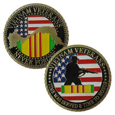 US. Military Vietnam Veterans 24K Gold Plated Challenge coin 1061#