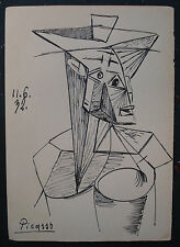 PABLO PICASSO  DRAWING ON ORIGINAL PAPER OF THE 30s