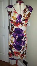 NWT Ralph Lauren Floral Sleeveless-Empire Waist Cocktail Dress Size 14