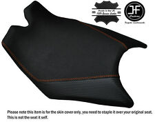 CARBON & GRIP VINYL ORANGE ST CUSTOM FITS KTM RC8 FRONT RIDER SEAT COVER