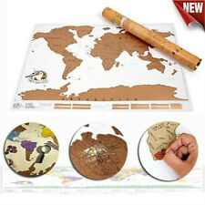 PERSONALISED WORLD TRAVEL SCRATCH MAP -MARK OFF WHERE YOU HAVE BEEN WORLD MAP UK