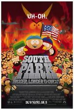 """SOUTH PARK BIGGER LONGER & UNCUT"" Poster [Licensed-NEW-USA] 27x40"" Theater Size"
