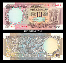 REPUBLIC INDIA 10 RUPEE 2 PEACOCK M NARSIMHAM SIGNATURE NOTE UNC CRISP