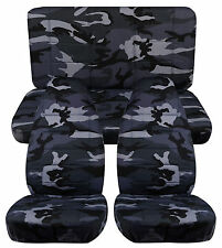 1976-2015 Jeep Wrangler Camouflage Seat Covers Canvas Front & Rear Choose color