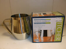 RSVP Italian Espress Coffee & Tea Steaming & Frothing Pitcher 20oz. NEW