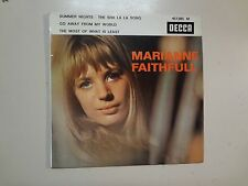 "MARIANNE FAITHFULL: Summer Nights +3-France 7"" 65 Decca Disques 457.085 M EP PCV"