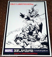AMAZING SPIDER-MAN WOLVERINE ORIGINAL ART PRINT POSTER SIGNED DANNY MIKI 11X17