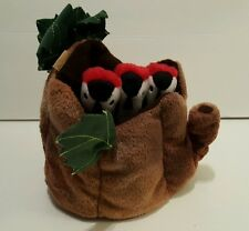 Folkmanis Puppet 3 Baby Woodpeckers Birds in Tree Nest With Sound Box